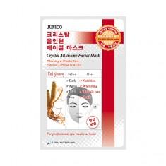 маска тканевая c красным женьшенем  mijin junico crystal all-in-one facial mask red ginseng