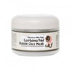 маска для лица глиняно-пузырьковая elizavecca milky piggy carbonated bubble clay mask