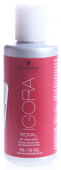 SCHWARZKOPF PROFESSIONAL Лосьон-окислитель на масляной основе 3% / Игора Роял 60 мл