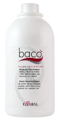 KAARAL Шампунь для блеска волос тонирующий седые волосы / Baco color collection-blonde elevation shampoo 1000 мл