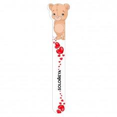 SOLOMEYA Пилка для натуральных и искусственных ногтей 180/220 Плюшевый мишка / Teddy bear Nail File