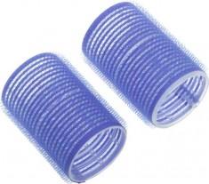 DEWAL BEAUTY Бигуди-липучки синие, d 40x63 мм 10 шт