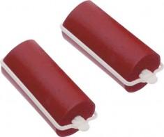 DEWAL BEAUTY Бигуди резиновые красные, d 22x70 мм 10 шт