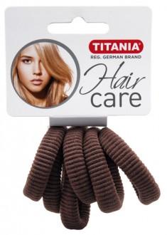 TITANIA Резинки для волос, коричневые 3,5 см 6 шт/уп 7872