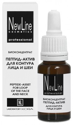 NEW LINE PROFESSIONAL Биоконцентрат пептид-актив для контура лица и шеи 15 мл