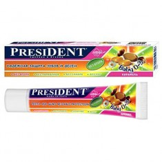 Президент Baby зубная паста Карамель без фтора 30мл President