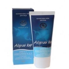 Акулья сила люкс-крем для лица ночной лифтинг Омега-3 и витамины А,Е,F 50 мл