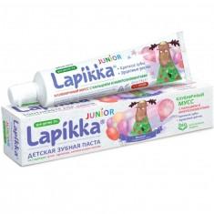 Lapikka Junior Зубная паста Клубничный мусс с кальцием и микроэлементами 74г