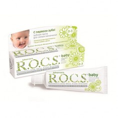 Рокс/Rocs Зубная паста Для самых маленьких Душистая ромашка.
