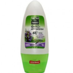 Чистая Линия Фитодезодорант-антиперспирант шариковый Защита от запаха и влаги 50мл ЧИСТАЯ ЛИНИЯ