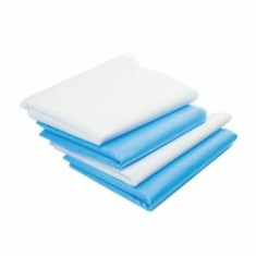 Коврик из SMS, белый/голубой, 100 шт., 50*80 см (Чистовье) ЧИСТОВЬЕ