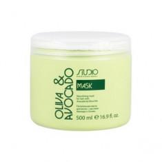 Питательная маска с маслами авокадо и оливы для волос, 500 мл (Studio Professional) Kapous Professional