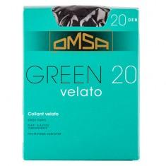 Колготки женские в коробочке OMSA GREEN 20 den nero р-р 4