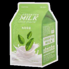 Маска для лица APIEU Зеленый чай с молочными протеинами 21 г
