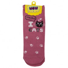 Носки женские SOCKS I cats pink р-р единый