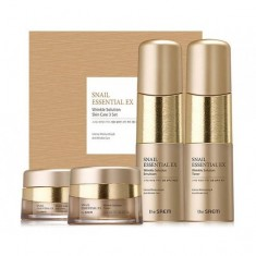 набор уходовый антивозрастной the saem snail essential ex wrinkle solution skin care set