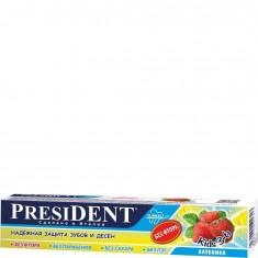 Зубная паста Kids без фтора клубника President