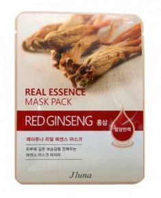 Тканевая маска с красным женьшенем JUNO Real essence mask pack red ginseng 25 мл