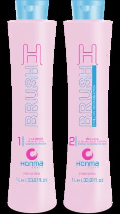 HONMA TOKYO Набор для восстановления волос (шампунь 1000 мл, маска 1000 мл) H-Brush Botox Capilar