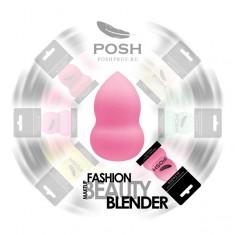 POSH Спонж бьюти блендер эргономичной формы, нежно-розовый
