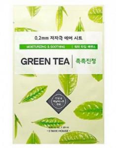 Маска с экстрактом зеленого чая ETUDE HOUSE 0.2 Therapy Air Mask Green Tea