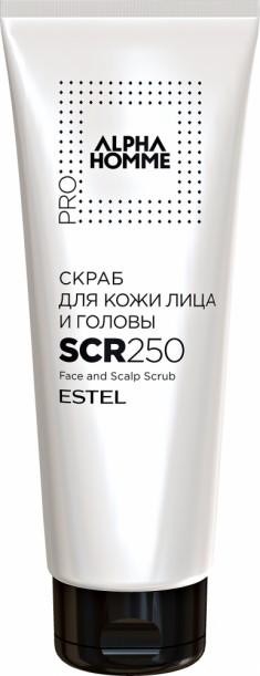 ESTEL PROFESSIONAL Скраб для кожи лица и головы, для мужчин / ALPHA HOMME PRO 250 мл