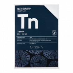 Маска тканевая с древесным углем MISSHA Phytochemical Skin Supplement Sheet Mask Tannin/Purifying