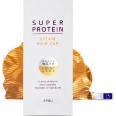 Маска для волос с протеинами Super Protein Steam Hair Cap A'PIEU