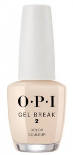 Ухаживающее покрытие с эффектом цвета OPI Gel Break Too Tan-talizing NTR04 интенсивный бежевый
