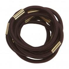 DEWAL PROFESSIONAL Резинки для волос коричневые maxi 10 шт/уп