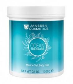 Скраб-микродермабразия Морская соль Janssen Cosmetics Ocean treasure Marine Salt Body Rub 1000 г