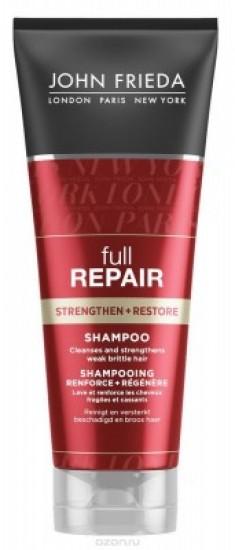 Укрепляющий + восстанавливающий шампунь для волос John Frieda Full Repair 250 мл