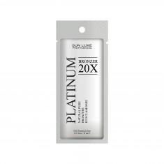 крем для загара в солярий sun luxe platinum bronzer 20x (15 мл)