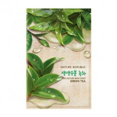 Маска для лица листовая NATURE REPUBLIC REAL NATURE GREEN TEA MASK SHEET 20мл