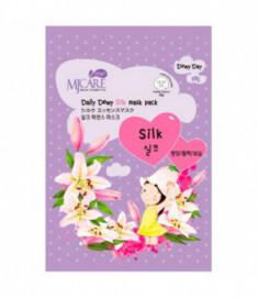 Маска тканевая с аминокислотами шелка Mijin Care Daily Dewy Silk mask pack 25гр
