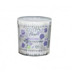 ЧИСТОВЬЕ Палочки ватные Cotto fleur, в банке 200 шт