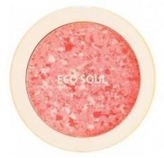 Румяна компактные THE SAEM Eco Soul Carnival blush 02 Coral 9,5г