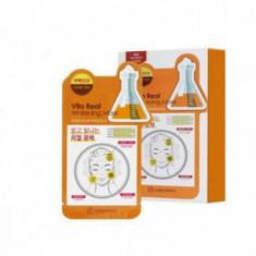 Маска для лица тканевая витаминная Mijin Uniquleen Vita Real Whitening Mask 26гр