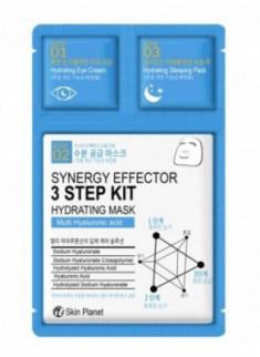 Трехшаговый комплекс увлажняющий Mijin Skin Planet synergy effector 3step kit HYDRATING MASK 25г/2мл/1,5мл