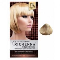 Richenna Color Cream 11 L - Крем-краска для волос с хной, яркий светлый блонд
