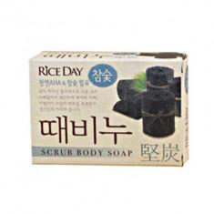 Мыло-скраб CJ Lion Rice day Древесный уголь 100г