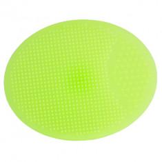 IRISK PROFESSIONAL Терка-скраб для лица/тела овальная, силиконовая, 04 зеленая