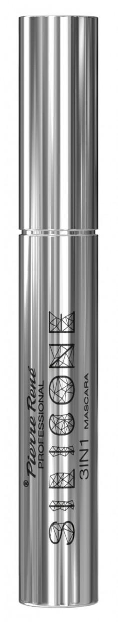 PIERRE RENE PROFESSIONAL Тушь силиконовая разделение и объем ресниц, черная / Mascara Silicone 10 мл