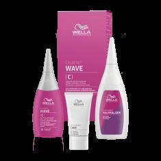 WELLA PROFESSIONALS Набор для окрашенных и чувствительных волос (лосьон 75 мл, фиксатор 100 мл, уход 30 мл) CREATINE+ WAVE