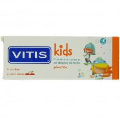 Dentaid Зубная паста-гель VITIS Kids детская, от 2+ лет, со фтором 1000ppm, вкус вишня, 50мл