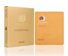 Маска гидрогелевая с золотом и муцином PETITFEE Gold&Snail Transparent Gel Mask Pack 32г*5шт