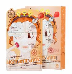 Маска трехступенчатая увлажняющая ELIZAVECCA Aqua White Water Illuminate Mask Pack 10 шт