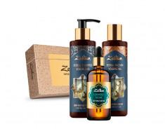 ZEITUN Набор подарочный Роскошный объем волос (шампунь 200 мл, бальзам 200 мл, масло 100 мл)