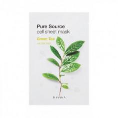 Маска тканевая Зеленый чай MISSHA Pure Source Cell Sheet Mask Green Tea 21г