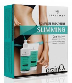 HISTOMER Набор для комплексного ухода, для похудения (слимминг скраб 200 мл, слимминг крем 400 мл) / Drain O2 Complete treatment SLIMMING DUAL ACTION